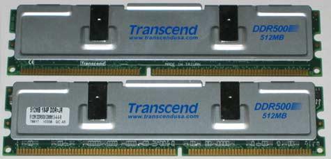 Transcend 1GB DDR500 Memory