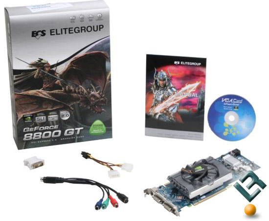 ECS 8800 GT 256MB Video Card Retail Bundle