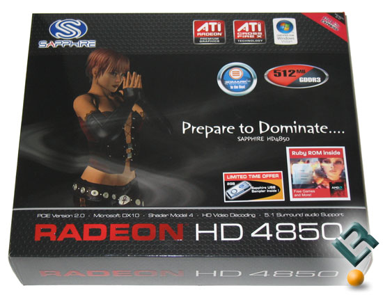 Sapphire Radeon HD 4850 Graphics Card Retail Box