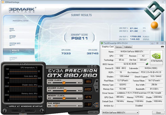 GeForce 9800 GTX+ Video Card Overclocking