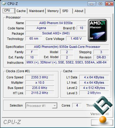 AMD Phenom X4 9350 Processor Overclock