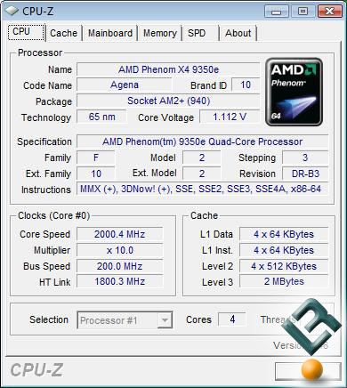 AMD Phenom X4 9350e CPU-Z 1.46