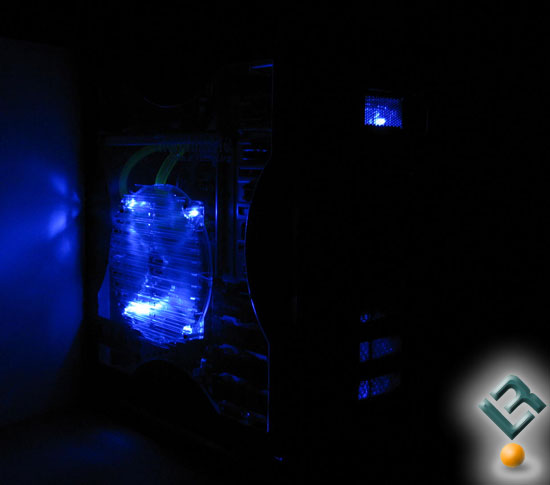 Thermaltake Armor +MX lit up in the dark
