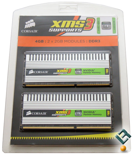 Corsair 4GB DDR3 1600MHz Memory Kit Retail Box