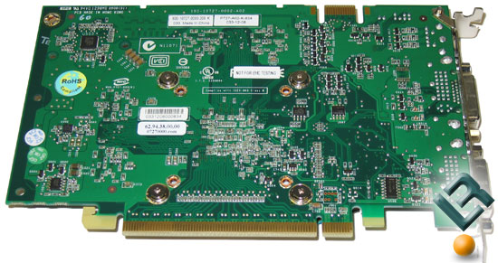 GeForce 9500 GT Graphics Card Back