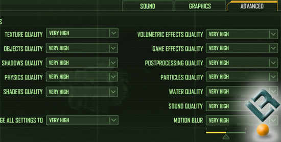 Crysis Benchmark Settings