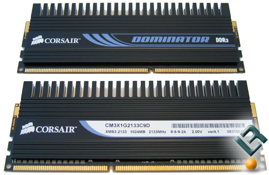 Corsair Dominator DDR3 2133MHz Memory Modules