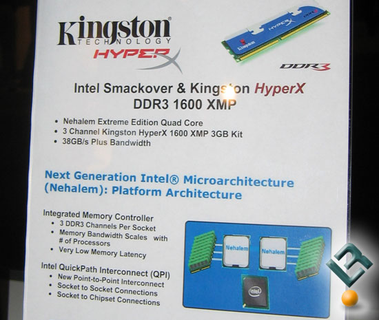 Intel DX58SO Motherboard and HyperX Display Sign