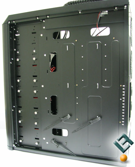 Behind the mother board tray of the Antec Twelve Hundred