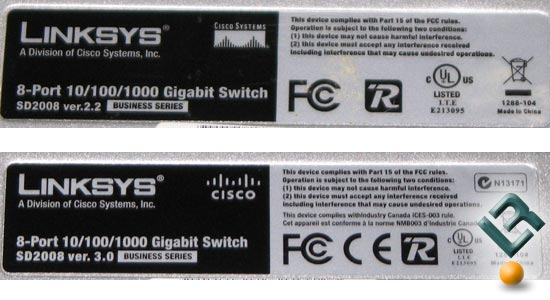 Linksys SD2008 Gigabit Switch Version 3.0