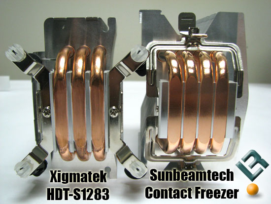 Sunbeamtech Core-Contact Freezer compared to the Xigmatek HDT-S1283