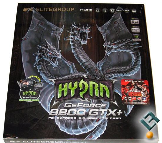 ECS Hydra GeForce 9800 GTX+ Video Cards
