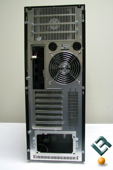 Back of the Lian Li PC-A7010