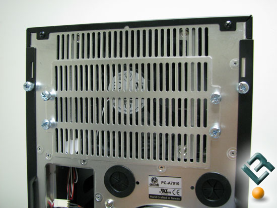 Rear fan on the Lian Li PC-A7010