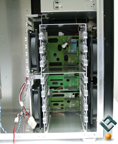 Main drive cage of the Lian Li PC-A7010