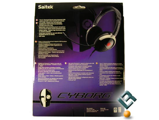 The Saitek Cyborg 5.1 Surround Sound Headset