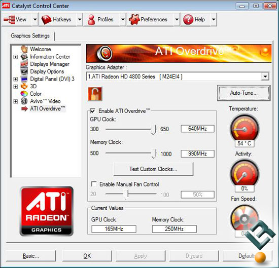 ATI Radeon HD 4830 Video Card Overclocking