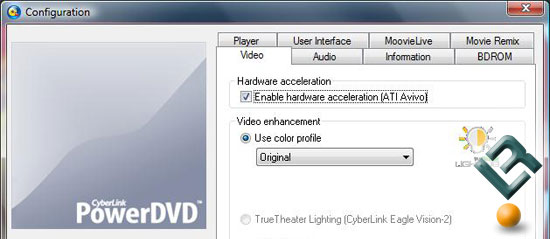 Blu-Ray Playback Performance Hardware Acceleration