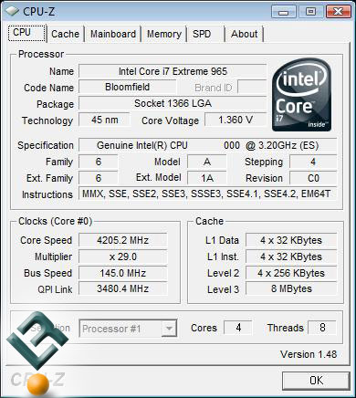Intel Core i7 965 Processor Overclocking