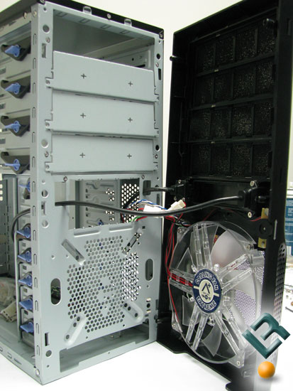 Behind the front panel of the Tagan Aplus Curbic