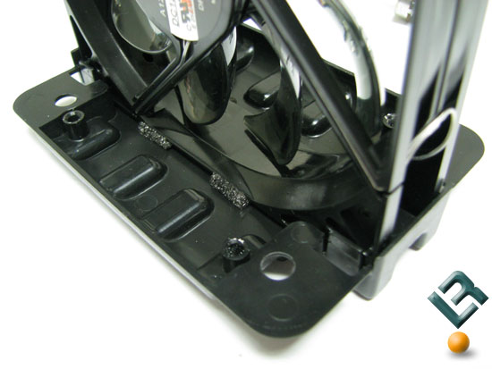 Cooler Master V8 CPU Cooler fan padding