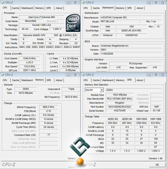 ASUS P6T Motherboard BIOS Settings
