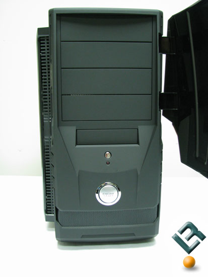 Behind the AeroCool AeroRacer Pro front bay door