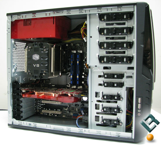 AeroCool AeroRacer Pro with test system installed