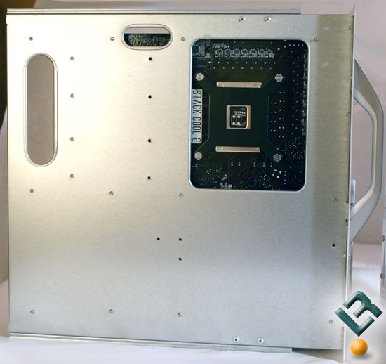 Rear view of motherboard tray