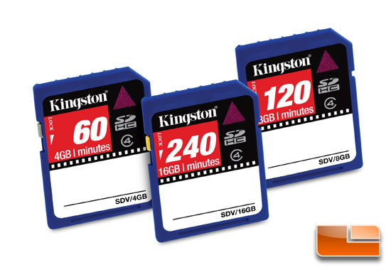 Kingston SDHC Video Cards