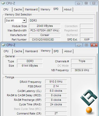 Corsair Dominator 6GB PC3-12800 Overclocking w/ CL8 Timings
