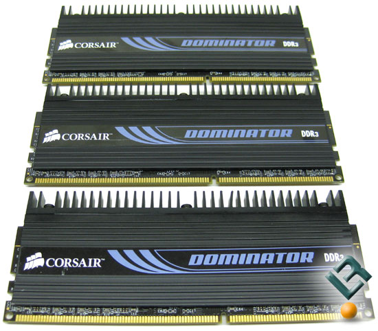 Corsair Dominator 6GB 1600MHz CL8 triple-channel memory kit