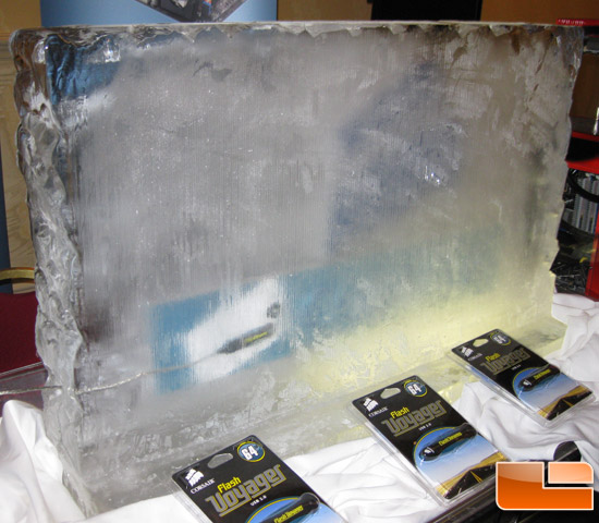 Corsair Memory USB Key in Ice Block