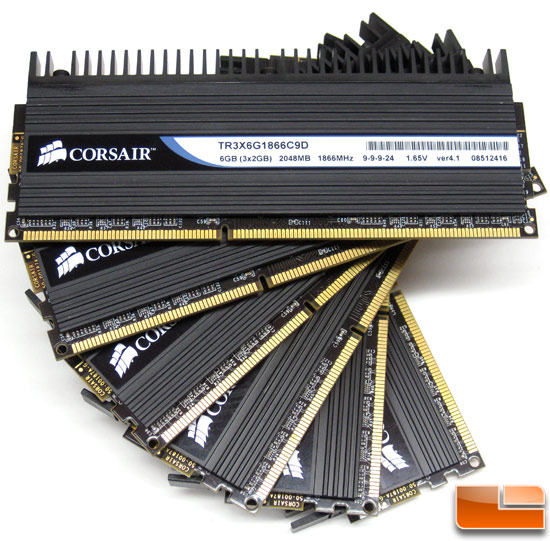 Two Corsair Dominator DDR3 1866MHz 6GB Memory Kits