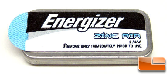 Energizer Zinc Air Prismatic battery