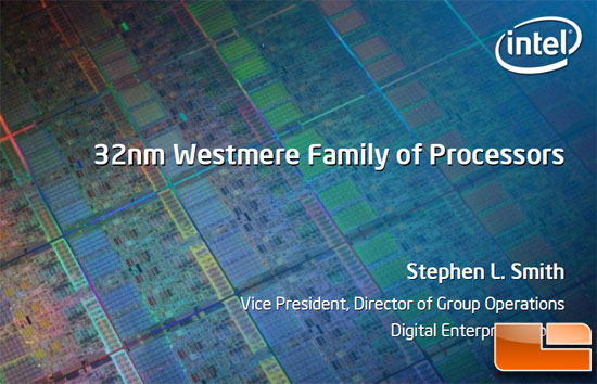 Intel 32nm  Westmere Desktop Processor Roadmap Exposed
