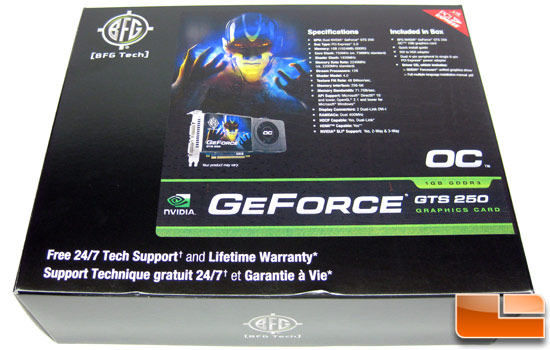 BFG Tech GeForce GTS 250 Retail Box Front