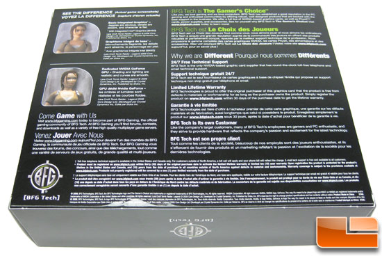 BFG Tech GeForce GTS 250 Retail Box Back