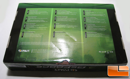 Palit GTX 260 Back Box Image