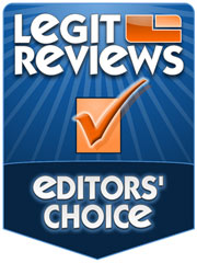 Legit Reviews Editor's Choice<br />  Award