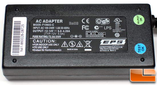 NVIDIA Ion PC AC Adapter