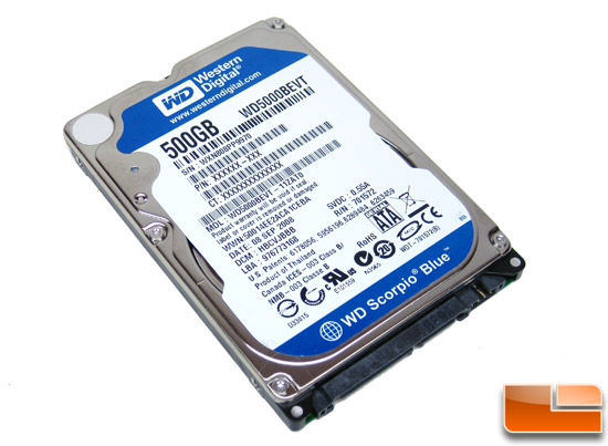 Western Digital Scorpio Blue 500GB Hard Drive