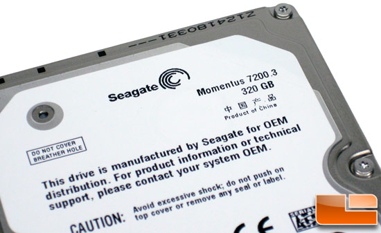 Seagate Momentus 7200.3 320GB Hard Drive Label