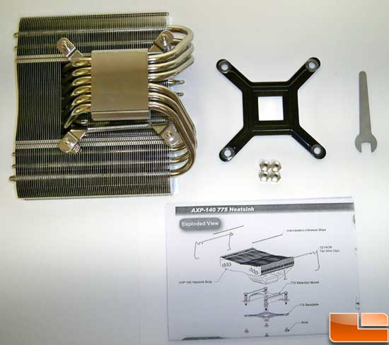 Thermalright AXP-140 CPU Cooler Instructions