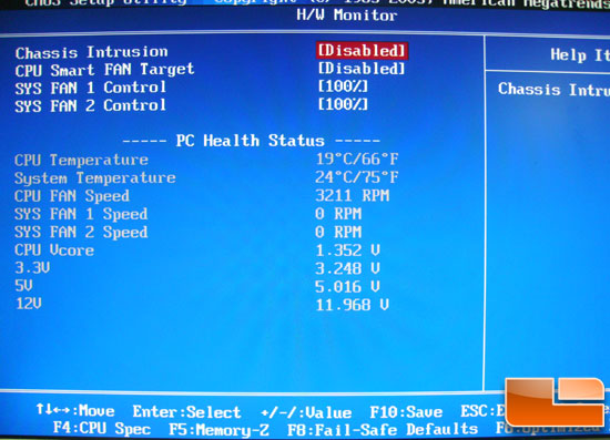MSI 790GX G65 BIOS Hardware Monitor
