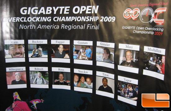 Gigabyte Open Overclocking Championship 2009 Competition Area