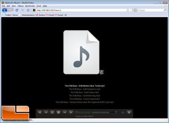 HipServ Music Player