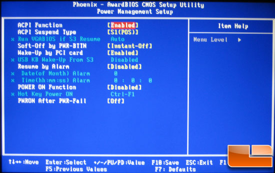 EVGA E761 X58 Classified BIOS Power Management