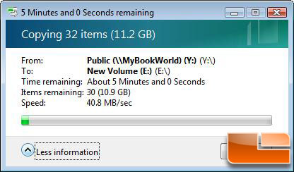 My Book World Edition II File Transfer Testing