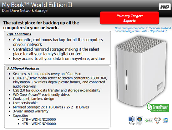 WD My Book World Edition II Features